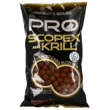 STARBAITS - Probiotic scopex & krill - boilie potápivé 1 kg 14 mm